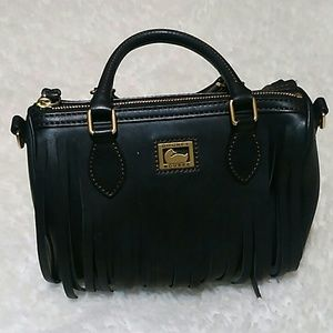 Dooney & Bourke ABBY Satchel Black Leather Bag